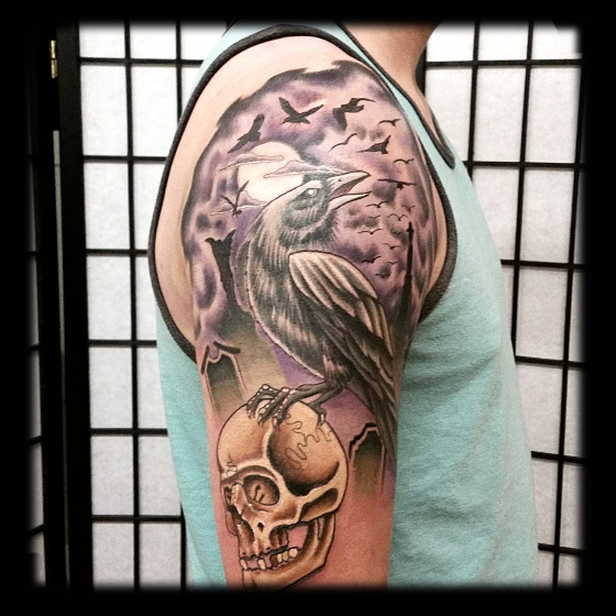 Crow Skull Sleeve