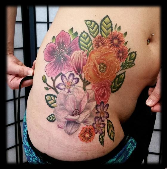 Floral Hip Piece